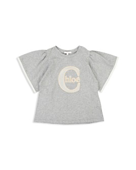 Chloé - Girls' Embroidered Flutter Tee - Little Kid, Big Kid