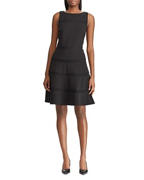 0e3d1e52dff Ralph Lauren - Lace-Trimmed Crepe Dress ...