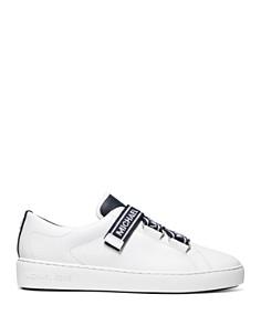 MICHAEL Michael Kors - Women's Casey Logo Tape Leather Sneakers