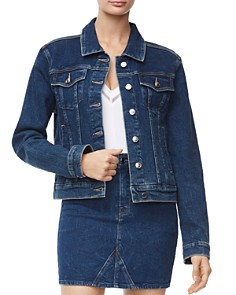 Good American - Fitted Denim Jacket in Blue251