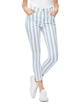 Good American - Good Legs Crop Skinny Jeans in Stripe003