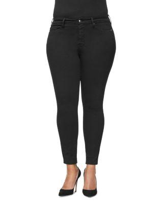 Good Legs Core Skinny Jeans In Black001 by Good American