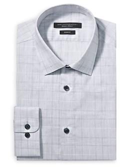 John Varvatos Star USA - Tonal Plaid Slim Fit Dress Shirt
