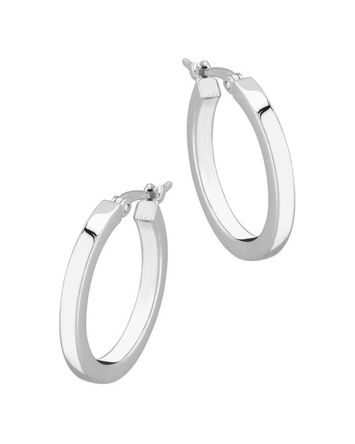 Bloomingdale's Small Square Tube Hoop Earrings in 14K White Gold - 100% Exclusive  | Bloomingdale's