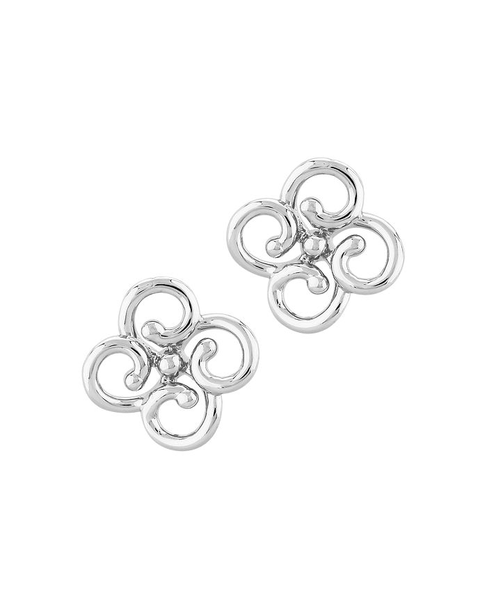 Bloomingdale's - Twisted Clover Stud Earrings in 14K White Gold - 100% Exclusive