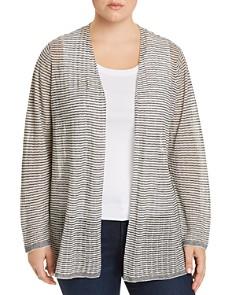 Eileen Fisher Plus - Striped Open Cardigan