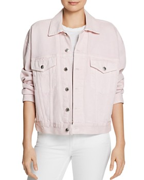 f940c0bdc16f alexanderwang.t - Game Denim Jacket in Pink ...
