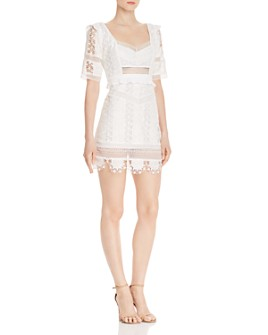 For Love & Lemons - Amandine Lace Mini Dress