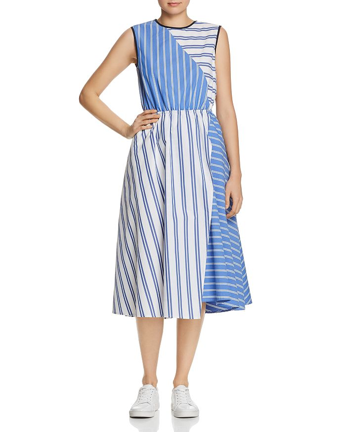SJYP - Mixed-Stripe Midi Dress