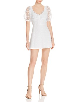For Love & Lemons - Felix Cotton Eyelet Lace Mini Dress