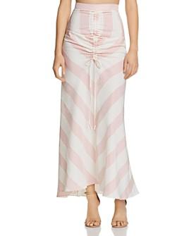 Paper London - Islamorada Gingham Maxi Skirt