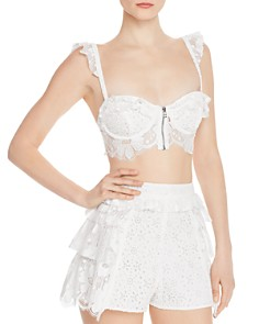 For Love & Lemons - Las Palmas Lace Bra Top