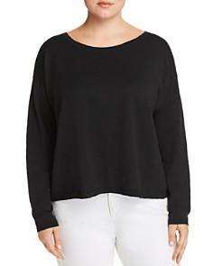 Eileen Fisher Plus - Cropped Linen Sweater