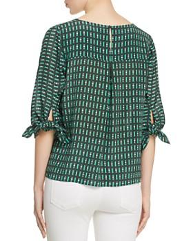 Weekend Max Mara - Adone Printed Silk Tie-Sleeve Blouse