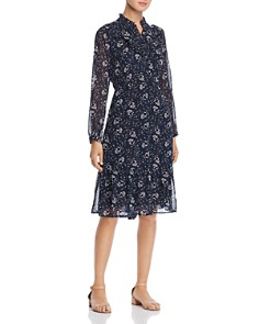 Vero Moda - Piana Ruffed Floral-Print Dress