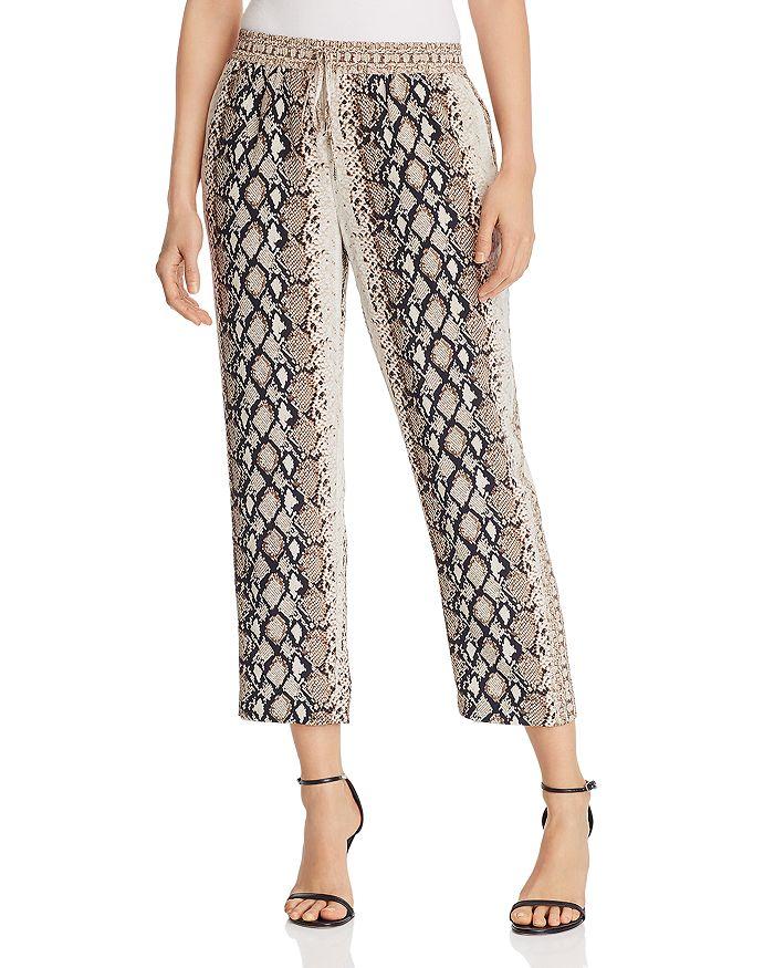 Joie - Ceylon Snakeskin-Print Cropped Pants