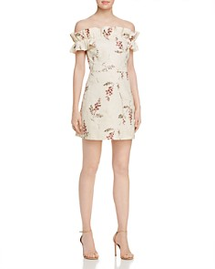 Rebecca Taylor - Ivie Fleur Off-the-Shoulder Embroidered Dress