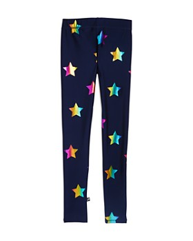 Terez - Girls' Rainbow-Foil Stars Leggings - Little Kid, Big Kid