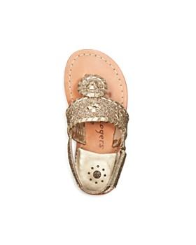 Jack Rogers - Girls' Little Miss Sparkle Leather Sandals - Walker, Toddler