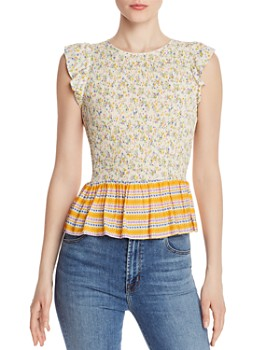 Lost and Wander - Marilyn Floral Smocked Top