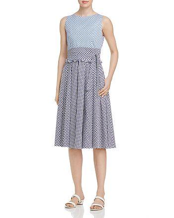 Marella - Remo Color-Blocked Check-Print Dress