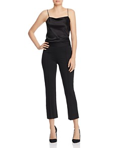 Alice and Olivia - Michiko Pintuck Cropped Flared Pants