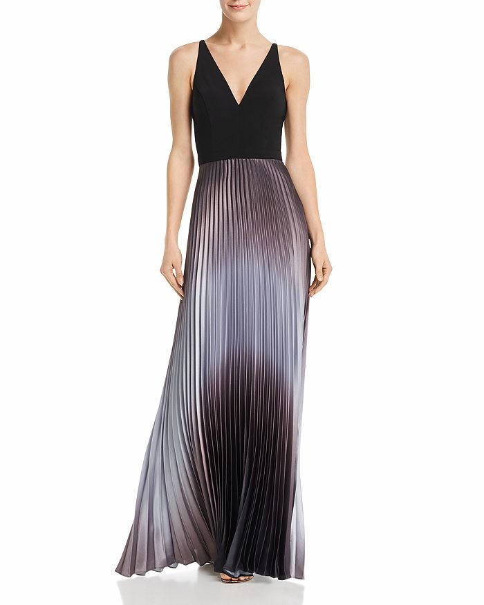 AQUA - Pleated Shimmer Gown - 100% Exclusive