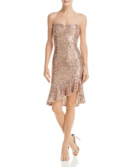 Aidan by Aidan Mattox - Strapless Sequined Dress