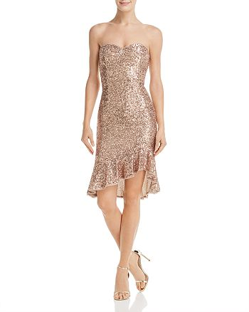 Aidan by Aidan Mattox - Strapless Sequined Dress