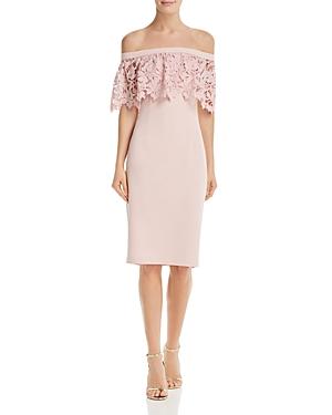 Eliza J Dresses OFF-THE-SHOULDER DRESS