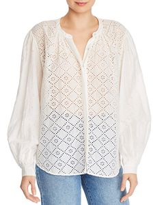 fc2a66b403a180 BCBGMAXAZRIA Wylie Lace Top | Bloomingdale's