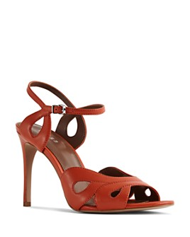 REISS - Women's Savona Leather High-Heel Sandals