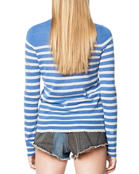 c770328c111b ... Zadig   Voltaire - Miss Striped Cashmere Sweater