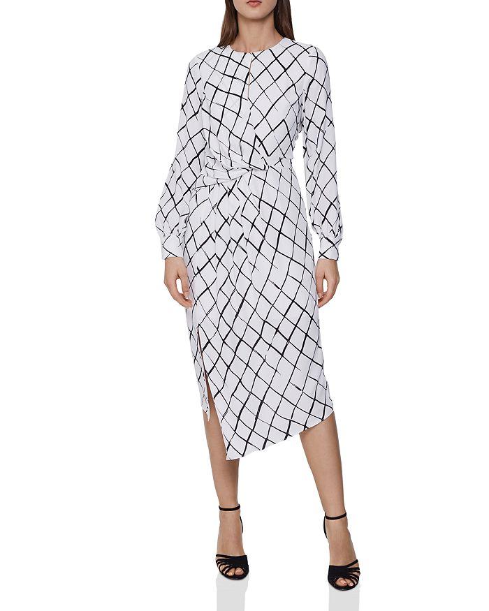 REISS - Dahlia Grid-Print Dress - 100% Exclusive