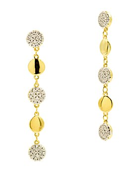 Freida Rothman - Radiance Linear Drop Earrings in 14K Gold-Plated & Rhodium-Plated Sterling Silver