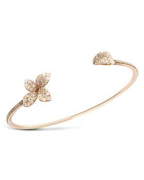 Pasquale Bruni - 18K Rose Gold Giardini Segreti White & Champagne Diamond Bangle Bracelet