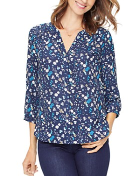 NYDJ - Printed Pintuck-Back Blouse