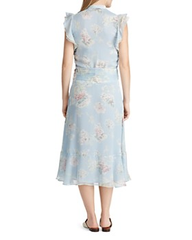 73e60018cf ... Ralph Lauren - Floral-Print Ruffle Midi Dress