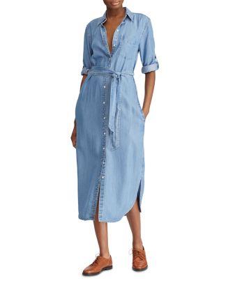 Denim Midi Shirt Dress by Lauren Ralph Lauren