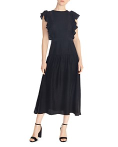 Sandro - Agnesse Ruffled Acid Love Midi Dress