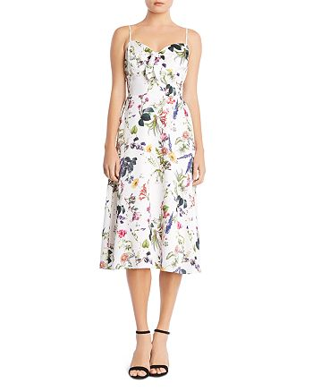 Bailey 44 - Puff Pastry Floral Satin Dress