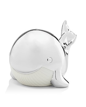 Reed & Barton - Mystic Sea Whale Porcelain Bank