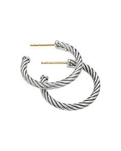 David Yurman - Sterling Silver Cable Small Hoop Earrings