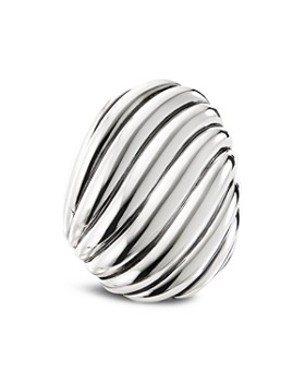David Yurman - Sterling Silver Cable Wave Ring