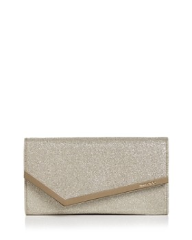 Jimmy Choo - Emmie Small Glitter Leather Crossbody