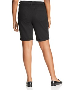 NYDJ Plus - Briella Roll-Cuff Bermuda Shorts in Black