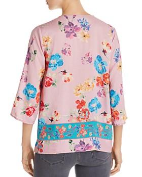 Tolani - Floral-Print Faux-Wrap Top