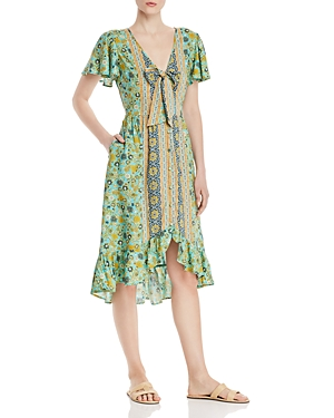 Band Of Gypsies BAND OF GYPSIES DUBLIN FLORAL MIDI DRESS
