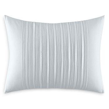 """Vera Wang - Linear Tucks Decorative Pillow, 12"""" x 16"""""""