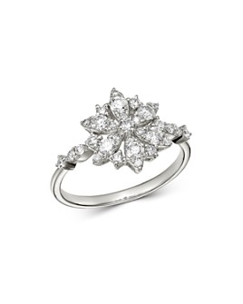 Bloomingdale's - Diamond Flower Ring in 14K White Gold, 0.75 ct. t.w. - 100% Exclusive